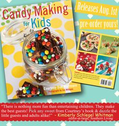 A peek inside my 2nd book – Candy Making For Kids! on http://pizzazzerie.com