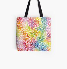 Large Bags, Small Bags, Cotton Tote Bags, Reusable Tote Bags, Rainbow Water, Designer Totes, Water Drops, Medium Bags, Are You The One