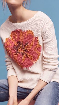 New Scotland Geranium Pullover Cool Sweaters, Sweaters For Women, Oversized Sweaters, Knit Fashion, Women's Fashion, Knitwear, Knit Crochet, Pullover, Knitting