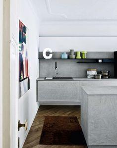Kitchen with island without handles KALEA - COMPOSITION 9 by Cesar Arredamenti design Gian Vittorio Plazzogna