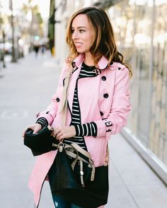 Pink Trench Coat | charming charlie | Blogger Sydne Summer | Style by Sydne | Wallaby Bag-In-Bag | #ccstyle #accessories #travelbag #purse #handbags