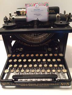 L.C. Smith No. 5 Typewriter Circa 1911 by CountryGirlsVintage