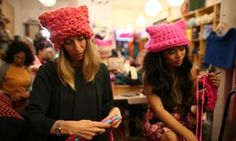 Casting off Trump: the women who can't stop knitting 'pussy hats'