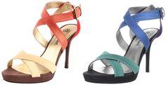 J. RENEE. Petunia. Platform sandals. Warm multi & cool multi.