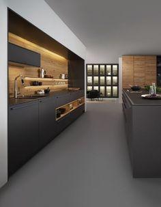 Cuisine LEICHT modèle Bondi Valais - basement media room