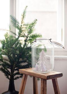 Kerst in een glazen pot