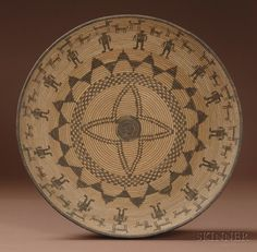 Southwest Pictorial Coiled Basketry Bowl | Apache, c. early 20th century