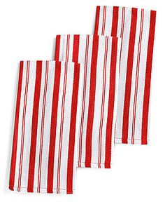 Martha Stewart Collection Basket Weave Red-Striped Kitchen Towels, Set of 3 Kitchen Linens, Kitchen Towels, Kitchen Decor, Martha Stewart Kitchen, Red Kitchen, Kitchen Collection, Red Stripes, Kitchen Styling, Home Collections