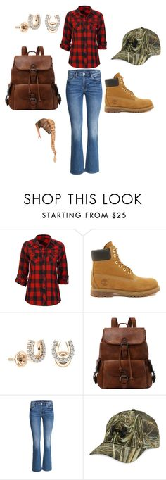 """""""LumberJack"""" by sarahjburnette on Polyvore featuring Full Tilt, Timberland and Under Armour"""