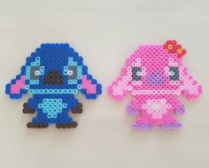 Stitch and Angel perler beads by h_ssunnying