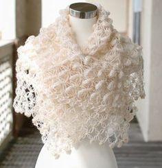 Wedding Shawl, Shrug, Cream Shawl, Bridal Bolero, Bridal Wrap, Winter Wedding Shawl, Blush Shawl, Cream Shawl