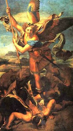 Victory of St. Michael by Raphael, 16th century