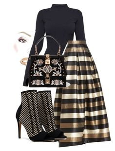 """gold"" by danielaelena1 on Polyvore featuring Ivy Park, Eliza J and Dolce&Gabbana"