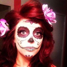 Sugar skull makeup for Halloween.