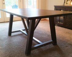 Metal Table Legs  Table Legs  Industrial Table von BaseMetalDesign