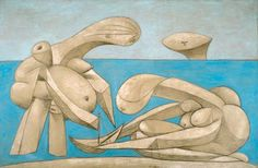 Pablo Picasso- On the Beach, 1937.