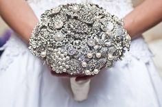 Dazzling Diamond Brooch Bouquet