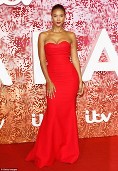 Maya Jama flaunts her enviable curves at the ITV Gala Ball | Daily Mail Online