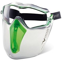 Features:  Panoramic lens can be perfectly worn over prescription glasses Additional facial protecti