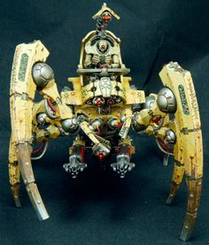 - Necron Triarch Stalker by Marc Giacco Warhammer 40k Necrons, Mini Paintings, Space Marine, Paint Schemes, Miniture Things, Marines, Fantasy, Christmas Ornaments, Holiday Decor