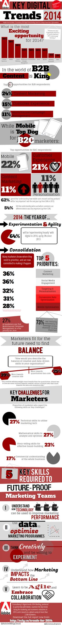 Key Digital Trends for B2B and B2C Marketers in 2014 [Infographic]