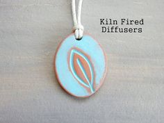 Turquoise Leaf Essential Oil Diffuser by KilnFiredDiffusers