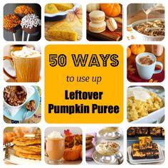 50 ways to use up leftover pumpkin puree   @Stephanie Nuccitelli (52 Kitchen Adventures)
