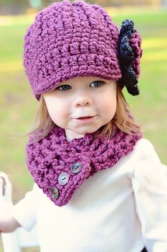Hey, I found this really awesome Etsy listing at https://www.etsy.com/listing/164506255/purple-plum-girls-hat-4t-to-preteen