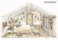 Эскизы интерьеров Ирены Барене Louvre, Loft, Building, Ideas, Chalets, Buildings, Lofts, Thoughts, Construction