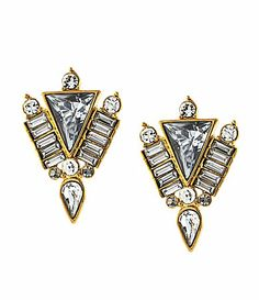 got these today!! obsessed. @glitterynanny Vince Camuto Crystal Clear Stud Earrings