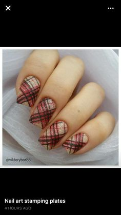 Double stamped plaid