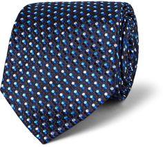 Etro Polka Dot-Embroidered Silk Tie sur shopstyle.fr