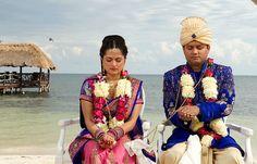 Priya & Jigar's destination wedding in Mexico, Mexico beach wedding, Mexico wedding ideas @destweds