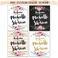 Customized Welcome to the Wedding Of sign or poster for your big day! **This listing is for a DIGITAL file! Nothing is physically shipped to