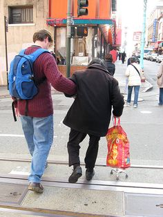 Help an elderly walk across the street today. #PayitForward #kindness