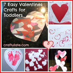 Craftulate: 7 Easy Valentines Crafts for Toddlers