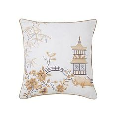 Orient Filled Cushion | Grattan ($2,375) ❤ liked on Polyvore featuring home, home decor, throw pillows, asian home decor, asian inspired home decor, oriental throw pillows and oriental home decor