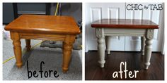 How to DIy an old coffee table with paint. Anyone can do. ChicByTab