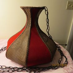 Just Reduced Vintage Lighting in Brown Wicker by TreasuredSalvage, $90.00