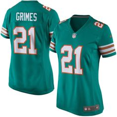 Brent Grimes Miami Dolphins Nike Women's Alternate Game Jersey - Aqua