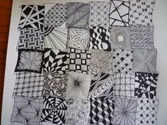 zentangle sampler patterns step tangle zen drawings easy read filled tag zentangles pattern before shading doodle