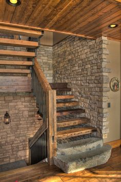 20 graceful rustic stair designs that you will love - decoration de - 20 gracef. - 20 graceful rustic stair designs that you will love – decoration de – 20 graceful rustic staircase designs that you will love – Rustic Staircase, Modern Staircase, Staircase Design, Staircase Diy, Staircase Pictures, Quinta Interior, Modern Lake House, Hardwood Stairs, House Stairs