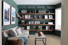 Custom Storage Shelf System:: 15 inexpensive ways to revamp your home decor   #BabyCenterBlog