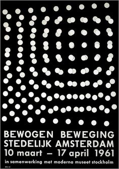 Dieter Roth exhibition poster for Stedelijk Museum, 1961