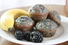 Grain Crazy: Purple People Eater (Blackberry Banana) Muffins