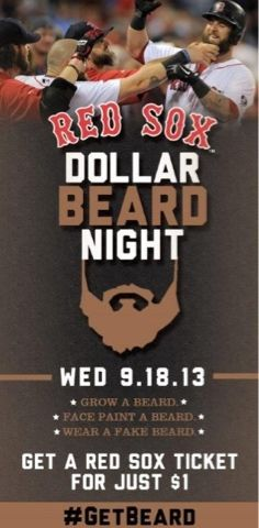 Born Into It In Iowa- A Red Sox Blog: Dollar Beard Night and Some More Fun Posts