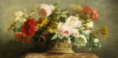 Jean-Marie Regnier - Basket of Pretty Flowers