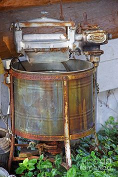 Vintage washing machine #rustyoldthing