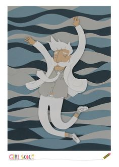 Drowning by GirlScout Illustration #papercut