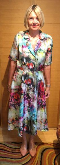 Gill's beautiful Vintage Shirt Dress in stunning Italian silk Sew Over It, Dress Sewing Patterns, Body Size, Shirtdress, Buttonholes, Knitting Ideas, Vintage Shirts, Body Shapes, Feminine